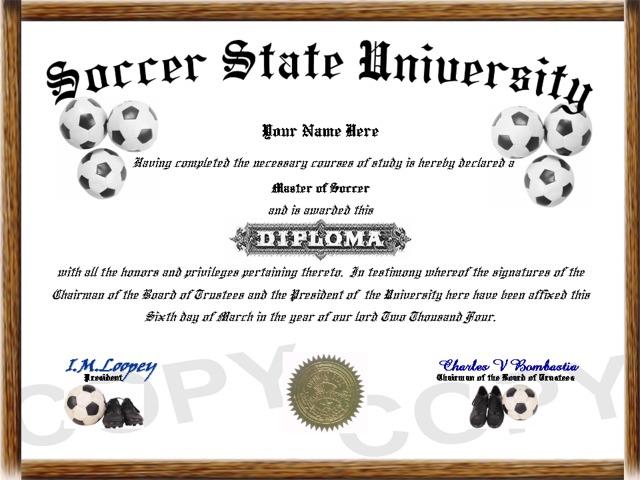 Sports Diplomas